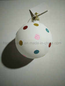 8cm Customized Polka DOT Glass Ball pictures & photos