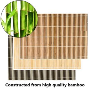 Chocolate Bamboo Placemats Dinner Table Kitchen Place Mats pictures & photos