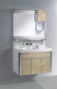PVC Bathroom Cabinet Sanitaryware Ce Certificate Bath Vanity (372)