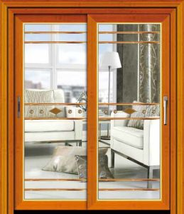 Kinds of Product Customized Aluminium Top Hanging Sliding Door pictures & photos