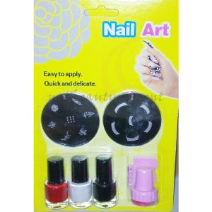 Nail Art Manicure Stamping Kit Image Plate Nail Polish (SNA20)