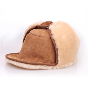 Kids and Children Sheepskin Hat with Ear Flap pictures & photos