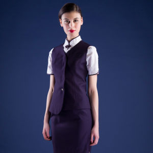 Formal Airline Stewardess Uniform Red Air Hostess Costume for Air Hostess Uniform pictures & photos