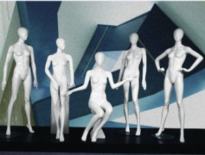 Full Body Fiberglass PU Painting Female Mannequins for Display pictures & photos