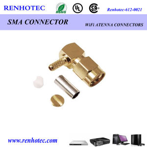 Right Angle Male Solderless SMA Connector Crimp Cable Rg174 pictures & photos