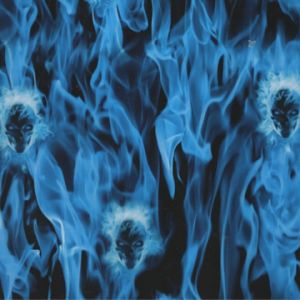 Tsau Top 0.5m Width Flame and Skull Water Transfer Printing Film Patterns pictures & photos