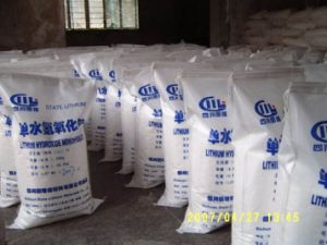 Industrial grade / battery grade lithium hydroxide monohydrate 56.5% pictures & photos