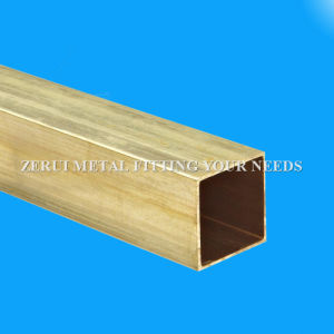 ASTM B135 Standard C27000 Seamless Square Brass Tube pictures & photos
