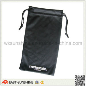 Black Two Side Drawstring Logo Printing Sunglasses Pouch (DH-MC0123) pictures & photos