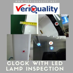 Clock with LED Lamp Quality Control Inspection Service in China pictures & photos