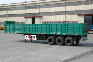 1500mm Drop Side Dry Cargo Semi Trailer pictures & photos