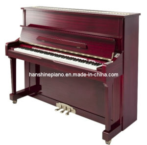 Chloris Mahogany Polish Straight Leg Upright Piano (HU-121M) pictures & photos