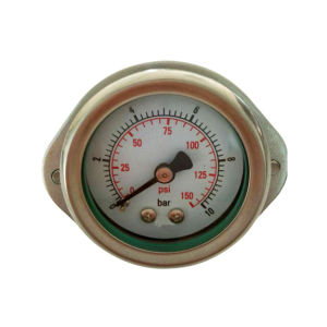 2.5inch-63mm Half Stainless Steel Back Liquid Filled Manometer with Butterfly Clamp pictures & photos