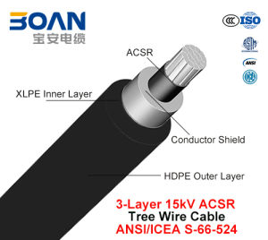 Tree Wire Cable 15 Kv 3-Layer ACSR (ANSI/ICEA S-66-524) pictures & photos