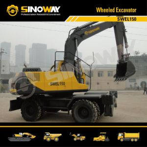 Wheeled Excavator with 15 Ton Operating Weight pictures & photos