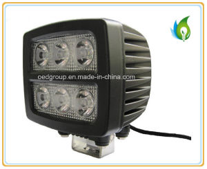 18W Rectangular LED Vehicle Work Light Cool White pictures & photos