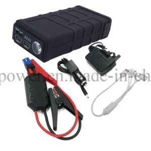 2017 Portable Car Battery Jump Starter 10000mAh Power Bank with Flashlight/Sos pictures & photos
