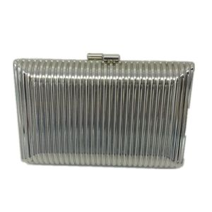White Party Bag Metal clutch Vertical Stripe Eveningbag pictures & photos