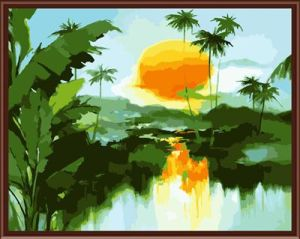Acrylic Landscape Painting by Numbers 2015 Hot Photo Gx6249