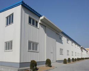 Long Service Time Fireproofed Panel Steel Frame Structure Warehouse/Workshop pictures & photos
