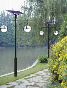 China High Pole 2X5w Solar LED Garden Light with Integrated Design