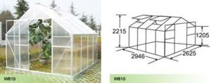 Aluminium Hobby Greenhouse for Garden (W810) pictures & photos