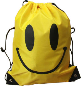 Smile Print Daily Gym Sport Drawstring Backpack for Outdoor pictures & photos
