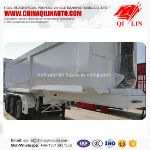 Qilin Tri-Axle 12 Wheels Dump Truck Trailer for Dinas Transportation pictures & photos