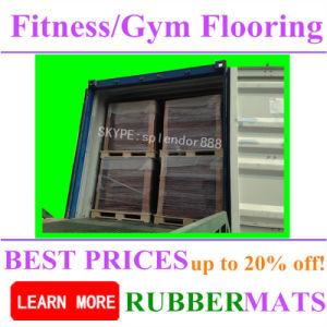 Factory Wholesale Shockproof Commercial Rubber Gym Flooring pictures & photos