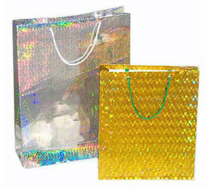 Hologram Golden Silver Foil Paper Cosmetic Bags (PB-013) pictures & photos