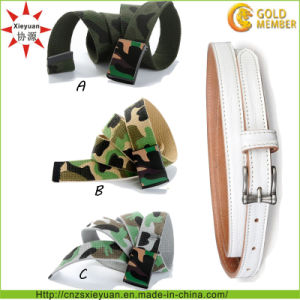Custom Logo and Color Nylon Weave Army Belt pictures & photos