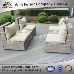 Well Furnir Wf-17006 Rattan 6 Piece Sectional Seating Group with Cushions pictures & photos