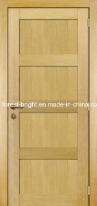 Oak Veneer 4 Panel Shaker Style Wooden Main Door Design pictures & photos