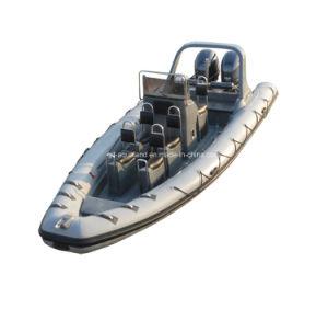 China Aqualand 25feet 7.5m Rigid Inflatable Motor Boat/Rib Patrol Rescue Boat/Sports Boat (RIB750B) pictures & photos
