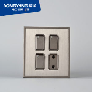 Stainless Steel Series 3gang&1socket Switch pictures & photos