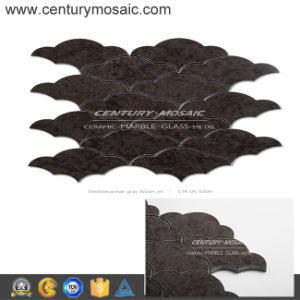 Century Mosaic Polished Water Jet Marble Tile Brown Color Tile for Interior Decor