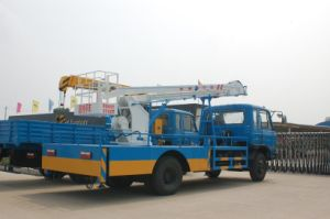 Combined Folding Arm and Telescopic Boom Truck Lift pictures & photos