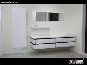 Welbom High Quality White Lacquer Modern Bathroom Vanity Set pictures & photos