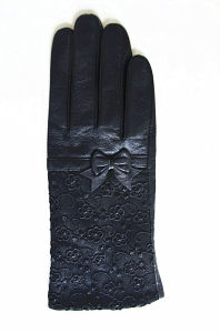 Lady Fashion Leather Gloves (JYG-24075) pictures & photos