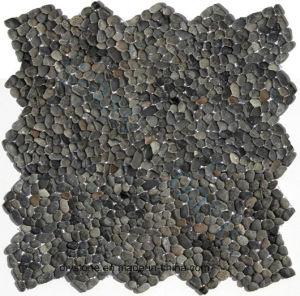 Black Garden Stone Pebble Tile pictures & photos