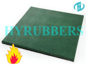 Fire Resistance Recycled Rubber Crumb Rubber Flooring Tile pictures & photos