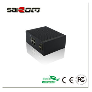 100/1000m Intelligent 2GX+4FE Industrial Management Switch for Safe City Solution pictures & photos