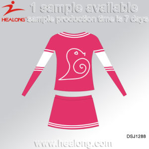 Healong Sublimated Printing Sportswear Girls Cheerleading Uniforms Jerseys pictures & photos