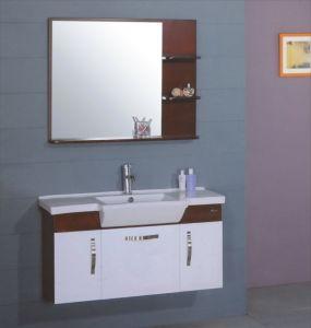 100cm PVC Bathroom Cabinet Furniture (B-217) pictures & photos