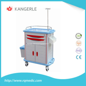 Ce/ISO ABS Medical Crash Cart/Hospital Cart/Emergency Trolley pictures & photos