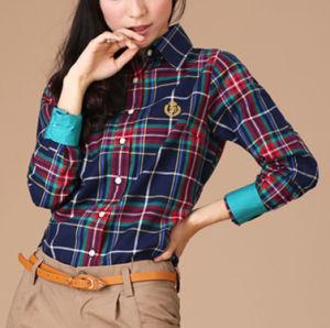 100%Cotton/ Women′s/Causal /Long Sleeve Shirt