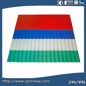 Waterproof Color Coated Steel Wave Sheet pictures & photos