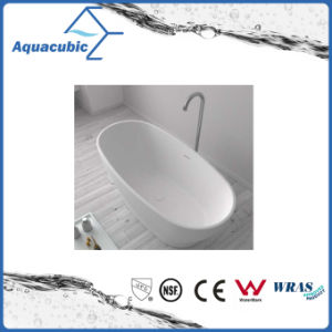Bathroom Oval Solid Surface Freestanding Bathtub (AB6553) pictures & photos
