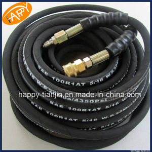 "SAE 100r1at 8mm 5/16"" Hydraulic Rubber Hose Assembly pictures & photos"