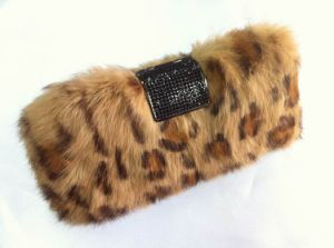Italy Design Real Rabbit Fur Women Clutch (F0825)